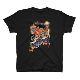 爬虫類広場 阿修羅モチーフ T-shirts