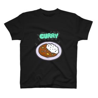 カレーシリーズ(暗色地) T-shirts
