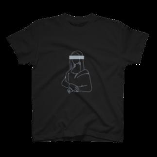 萩原商店街のモナ・リザ(黒) T-shirts
