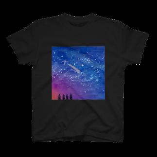 やまももショップ(2号店)の星空 T-shirts