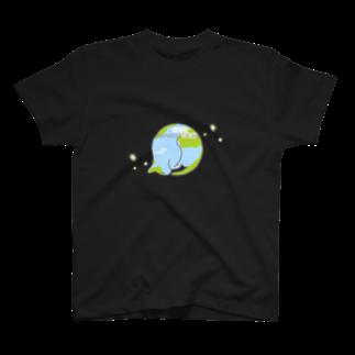 ねこまんがピッコロリンゴロの猫星☆にゃんこスター T-shirts
