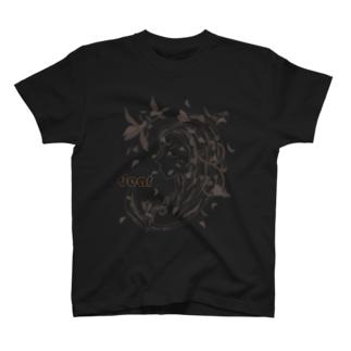 シルエットアート 花びら T-shirts