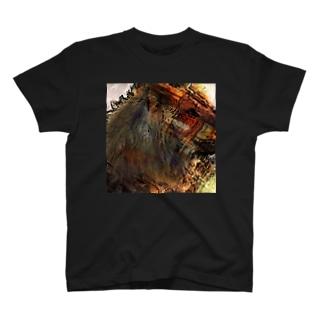 イラストタッチのライオンTシャツ T-shirts