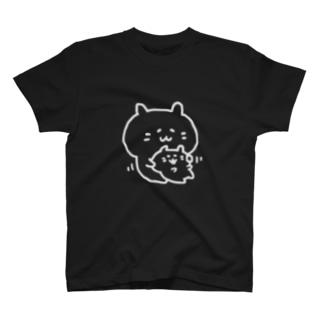ほっぺむにむに(白線) T-shirts