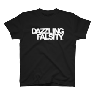 DAZZLING FALSITY タイポグラフィ T-shirts