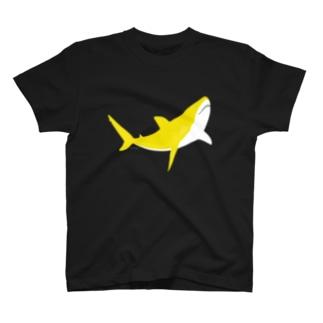 三日月サメ 〜黄蘗 kihada 〜〈 濃いめの色味をお選びください 〉 T-shirts