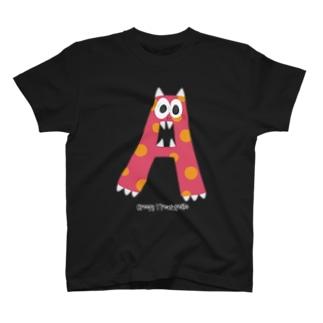 Alphabet Monster 【A】 T-shirts