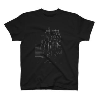 罫線都市 T-shirts