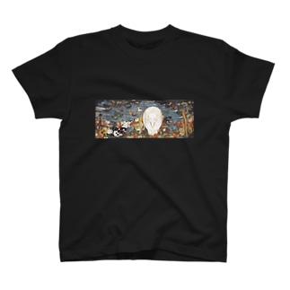 伊藤若冲『 樹花鳥獣図屏風 』(右隻) T-shirts