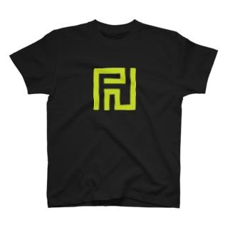 PNというロゴにも見える尻 T-shirts