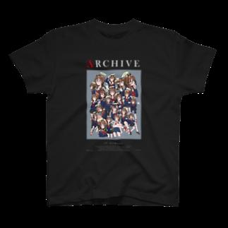 なで肩のいっぱい天使(黒) T-shirts