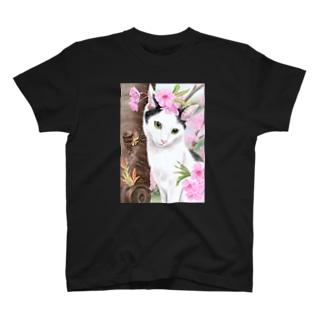 桜と猫 T-shirts