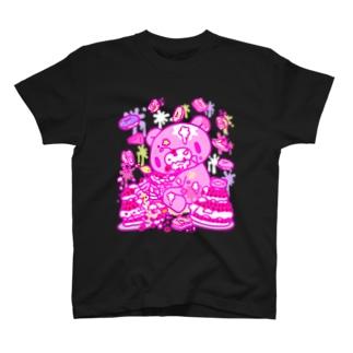 【各10点限定】いたずらぐまのグル〜ミ〜(8/special2/pink×blackback) T-shirts