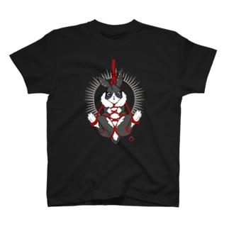 BA666の吊り緊縛ウサギ:黒 T-shirts