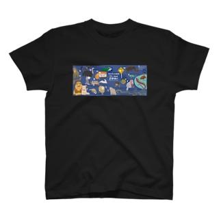 越境企画【for ArtwithZOO】どうぶつえんのABC(L〜Z) T-shirts