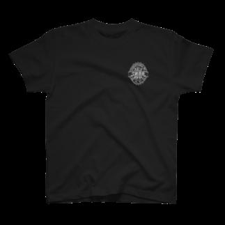 空きっ腹に酒の泥酔ラベル T-shirts
