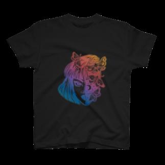 RedMoonのgirl knows the world T-shirts