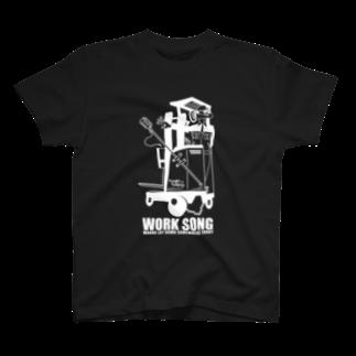 mosmos storeのWORK SONG -white- T-shirts