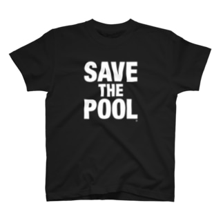 SAVE THE POOL White T-shirts