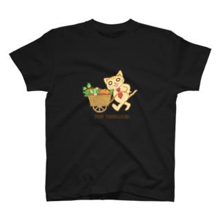 野菜手押しシャツ① T-shirts