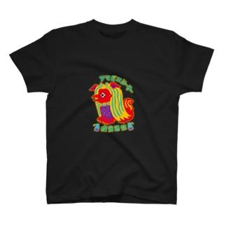 アマビエ  シーサー T-shirts