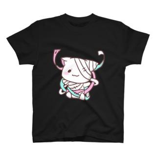 包帯にゃんこ T-shirts