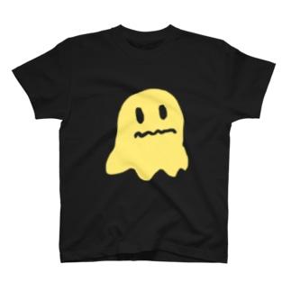 黄色いオバケのシルエット T-shirts