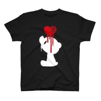 【各20点限定】いたずらぐまのグル〜ミ〜(17/white) T-shirts
