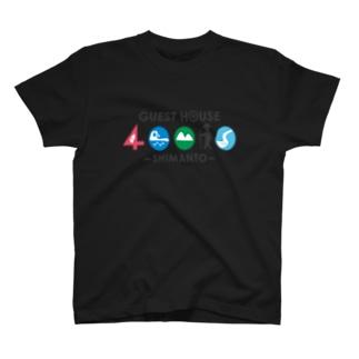 40010前ロゴ後ろQR T-shirts