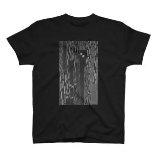 雨ザーザー 黒 T-shirts