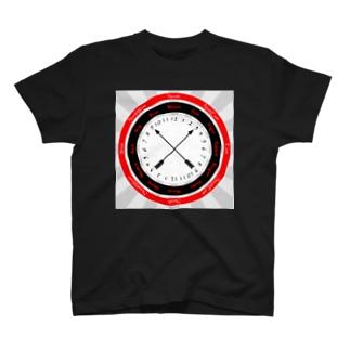 英訳方位時刻(背景あり) T-shirts