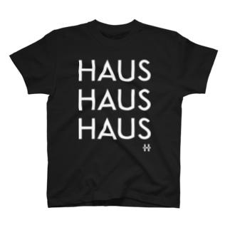HAUSHAUSHAUS Tシャツ  プリントカラーホワイト T-shirts