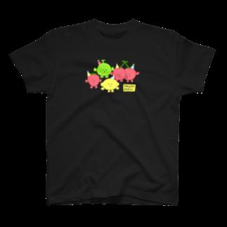 おかだひろみ の へんてこランドSHOPのFRUITS PARTY T-shirts