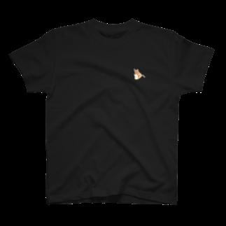 菊花ゆいのギターを抱いた猫 ワンポイント T-shirts