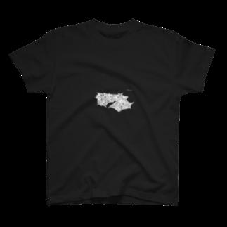 山口昇悟 Shogo Yamaguchiのコウモリ 白 T-shirts