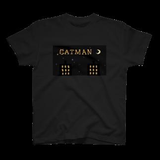 BearsGamesBaseのCATMAN Tシャツ (MAIN) T-shirts
