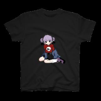 ヤスヲ退廃的ハイキョのどくろちゃん T-shirts