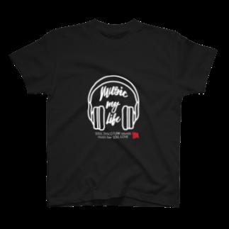music bar SOUL LOVEのSOUL LOVE ヘッドホン T-shirts