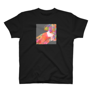 KINJI'sショップの透明GIRL T-shirts