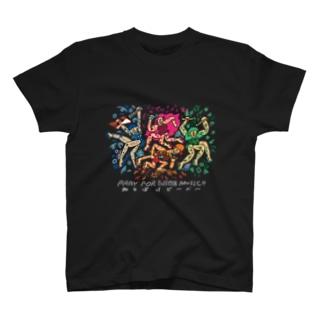 アマビエビ~バ~Tシャツ(白ロゴ) T-shirts
