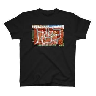 トルコハワイ_ent._ 赤幕 T-shirts