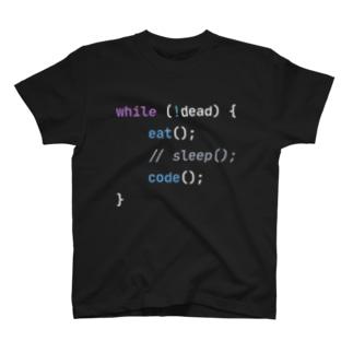コーディング中毒エンジニアTシャツ(OneDarkTheme) T-shirts