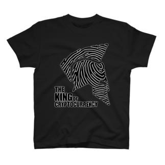 The King(ブラック・白縁)  T-shirts
