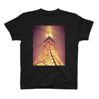 ウミヲアルクのトウキョウタワー T-shirts