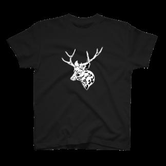 Hare nochi Kumori (HARE_KUMO)の二ホンジカ BLK T-shirts