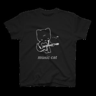 KAREZUのmusic cat T-shirts