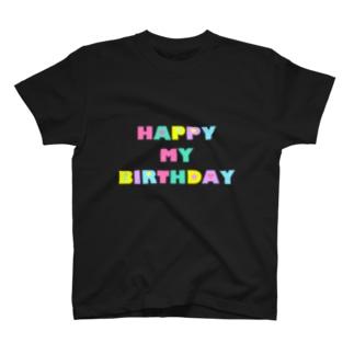 お誕生日ロゴ T-shirts