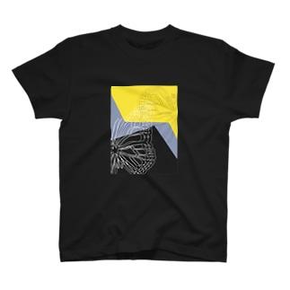 イエロー×ブラック T-shirts
