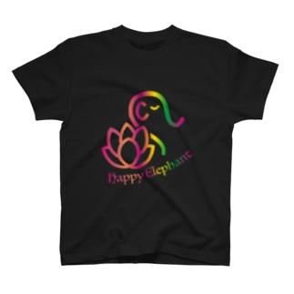 HappyElephant(マルチピンク) T-shirts