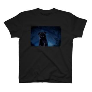 星空とパグ T-shirts